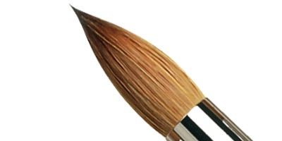 Winsor /& Newton Artists Puro Sable cepillos redondos para un solo acuarelas