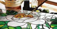 Pintura para pintar cristal, vidrieras , ventanas y decoración